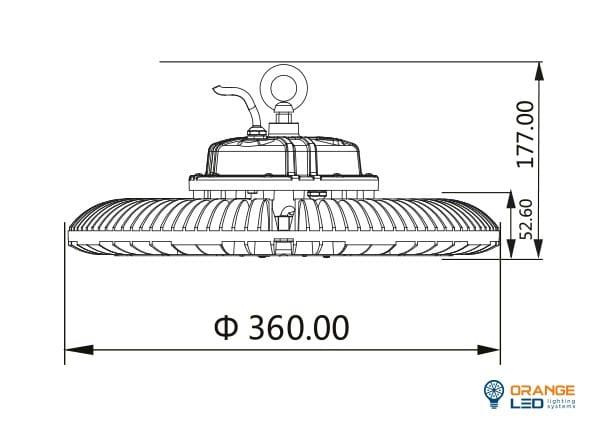 UFO HI-BAY grey 200W  6000K IP65