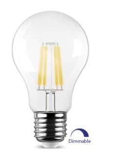 E27 LED Birne, 6W, klar, dimmbar