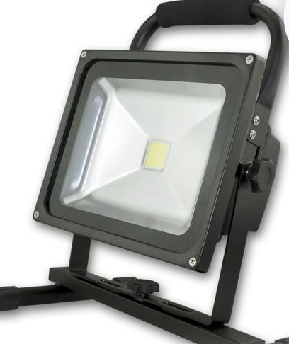 LED AKKU-FLUTER 20W, KALTWEISS, SCHWARZ, IP65